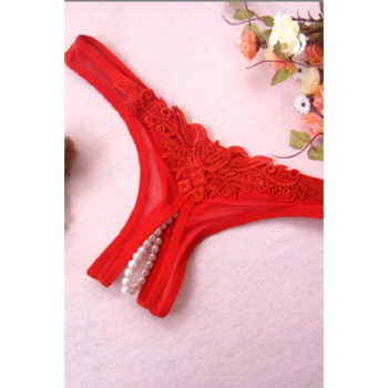 Rote string mit Perln