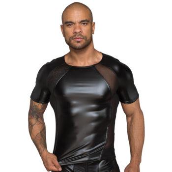 Wetlook Shirt mit Netzeinsatzen