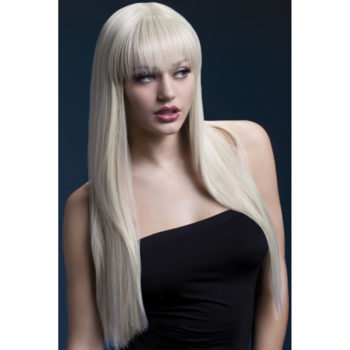 Langhaarperücke mit glattem Haar in Blond