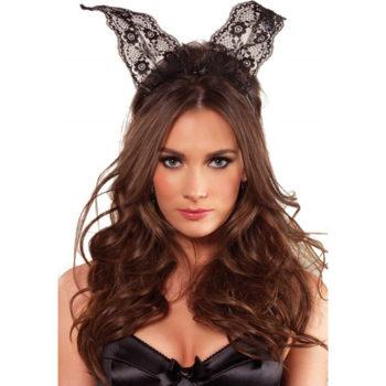 Haarreifen mit Bunny-Ohren aus Spitze